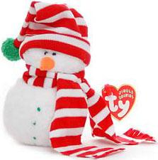 Ty Christmas Beanie Baby Jingle Mr. Frost the Snowman