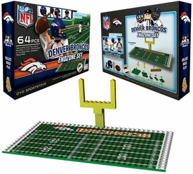OYO Football NFL Generation 1 Team Field Endzone Set Denver Broncos