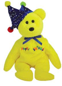 Ty Beanie Baby Happy Birthday the Bear