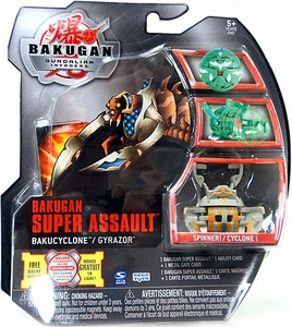 Bakugan Super Assault Single Figure Luminoz [Gray] BakuCyclone Gyrazor [Spinner!]
