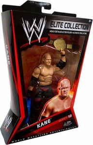 Mattel WWE Wrestling Elite Series 10 Action Figure Kane [World Heavyweight Title Belt!]