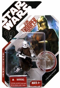 Star Wars 30th Anniversary Saga 2007 Action Figure Wave 8 #50 Clone Trooper with Poncho [Hawkbat Battalion]