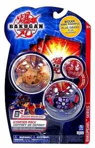 Bakugan B2 Bigger Brawlers BakuPEARL Series Starter Pack [3 Random Figures & 6 Cards]