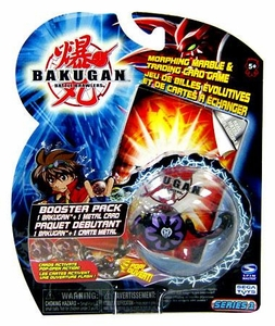 Bakugan Classic Booster Pack Darkon [Black] [1 Random Figure & 1 Metal Card!]