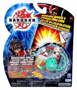 Bakugan Classic Booster Pack Zephyroz [Green] [1 Random Figure & 1 Metal Card!]