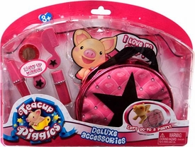 Teacup Piggies Deluxe Accessory Set Light Up Mirror with RANDOM DESIGN Carrier Bag BLOWOUT SALE!