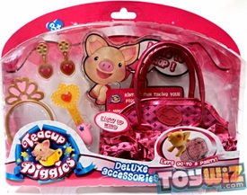 Teacup Piggies Deluxe Accessory Set Light Up Wand with RANDOM DESIGN Carrier Bag