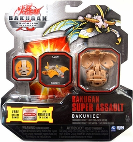 Bakugan Super Assault BakuVice Single Figure Sub Terra [Brown] BakuVice [Claw!]