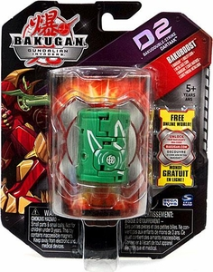 Bakugan D2 Single Figure LOOSE Zephyroz [Green] Bakudouble-Strike Dartaak
