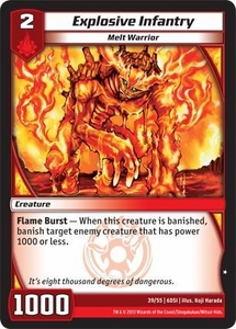 Kaijudo DragonStrike Infernus Single Card Common #39 Explosive Infantry