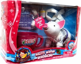 Teacup Piggies Playset Holly's Winter Wonderland [White Pig & RANDOM Color Cup] BLOWOUT SALE!