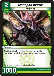Kaijudo DragonStrike Infernus Single Card Common #51 Manapod Beetle