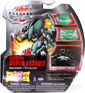 Bakugan Super Assault Single Figure Darkon [Black] Bakuzoom Ziperator [Flywheel!]