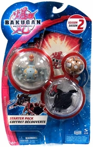 Bakugan Season 2 Starter Pack [3 Random Figures & 6 Cards]