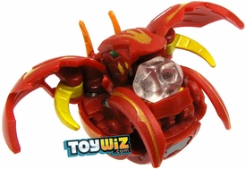 Bakugan Super Assault Single Figure Pyrus Nova 12 [Red] BakuChance {Includes Clear Die!} [Dice Thrower!]