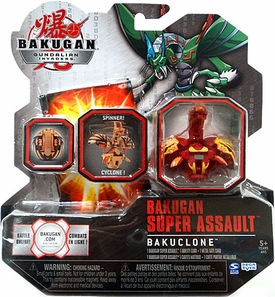 Bakugan Super Assault Single Figure Pyrus Nova 12 [Red] BakuClone [Spinner!]