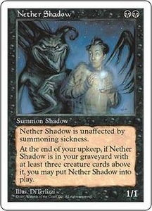 Magic the Gathering Fifth Edition Single Card Rare Nether Shadow