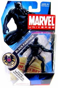 Marvel Universe 3 3/4 Inch Series 1 Action Figure #5 Black Panther
