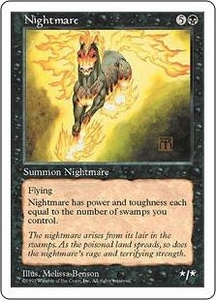 Magic the Gathering Fifth Edition Single Card Rare Nightmare