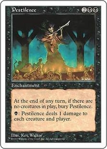 Magic the Gathering Fifth Edition Single Card Common Pestilence