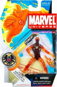 Marvel Universe 3 3/4 Inch Series 1 Action Figure #7 Human Torch [In Flames]