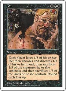 Magic the Gathering Fifth Edition Single Card Rare Pox