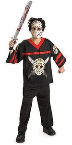 Friday the 13th Costume Jason Hockey Jersey and Mask (Child Size Large) #10859