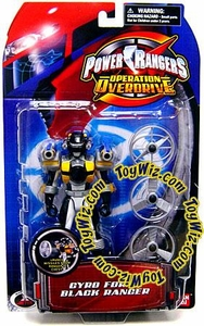 Power Rangers Operation Overdrive Action Figure Gyro Force Black Ranger BLOWOUT SALE!