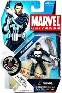 Marvel Universe 3 3/4 Inch Series 1 Action Figure #4 Punisher [White Gloves & Gray Rocket Launcher]