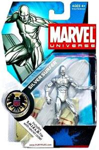 Marvel Universe 3 3/4 Inch Series 1 Action Figure #3 Silver Surfer