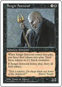 Magic the Gathering Fifth Edition Single Card Rare Sengir Autocrat