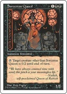 Magic the Gathering Fifth Edition Single Card Rare Sorceress Queen Slightly Played Condition