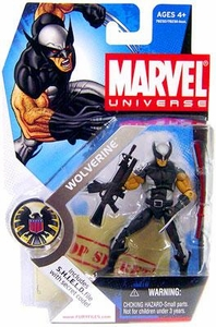 Marvel Universe 3 3/4 Inch Series 1 Action Figure #6 Wolverine [Black & Silver X-Force Uniform]