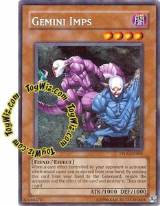 YuGiOh GX Premium Pack 1 Single Card Secret Rare PP01-EN005 Gemini Imps