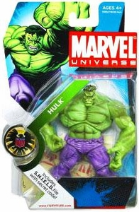 Marvel Universe 3 3/4 Inch Series 2 Action Figure #13 GREEN Hulk