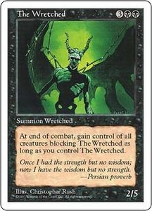 Magic the Gathering Fifth Edition Single Card Rare The Wretched