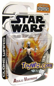 Star Wars Clone Wars Cartoon Network Action Figure Asajj Ventress