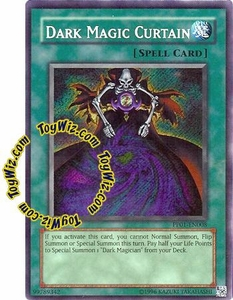 YuGiOh GX Premium Pack 1 Single Card Secret Rare PP01-EN008 Dark Magic Curtain