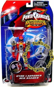 Power Rangers Operation Overdrive Action Figure Gyro Launcher Red Ranger