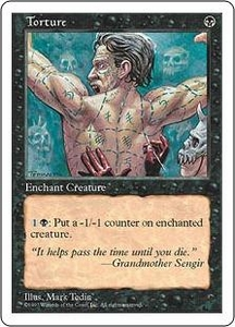 Magic the Gathering Fifth Edition Single Card Common Torture