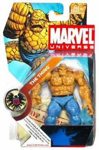 Marvel Universe 3 3/4 Inch Series 3 Action Figure #19 Thing [Light Blue Pants & Black Belt]