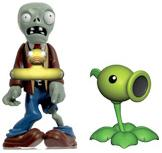 Plants vs Zombies 3 Inch Figure 2-Pack Ducky Zombie & Peashooter