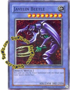 YuGiOh GX Premium Pack 1 Single Card Super Rare PP01-EN013 Javelin Beetle