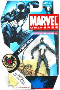 Marvel Universe 3 3/4 Inch Series 3 Action Figure #18 Black Costume Spider-Man