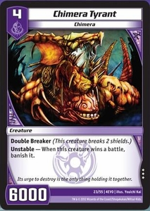 Kaijudo Evo Fury Single Card Rare #23 Chimera Tyrant