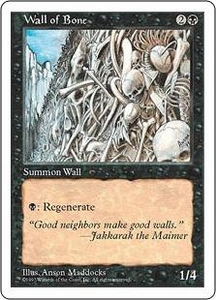 Magic the Gathering Fifth Edition Single Card Uncommon Wall of Bone
