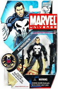 Marvel Universe 3 3/4 Inch Series 3 Action Figure #20 Punisher [Black Gloves & Black Rocket Launcher]