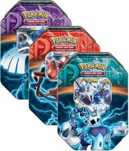 Pokemon Black & White Set of 3 Fall 2013 Team Plasma Tins [Lugia, Deoxys & Thundurus]