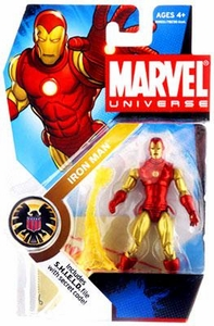 Marvel Universe 3 3/4 Inch Series 3 Action Figure #21 Iron Man [Classic]