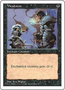 Magic the Gathering Fifth Edition Single Card Common Weakness